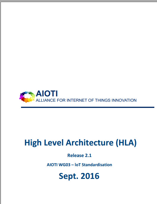 IoT High Level Architecture AIOTI